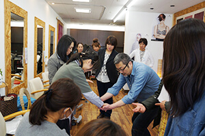 訪問福祉理美容 美々ネット埼玉 勉強会スタッフ写真